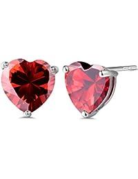 Lovely heart White Silver Platd Base Simulated Diamond Crystal Bling Women Girl Stud Earrings