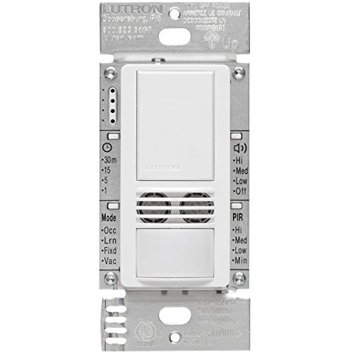 Lutron MS-B102-WH Motion Sensor, 120V/277V Multi-Location Ma