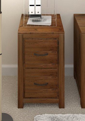 Grand, Holz, Massiv, Nussbaum, Möbel Aktenschrank mit 2 Schubladen, Aufbewahrung für Heim und Büro