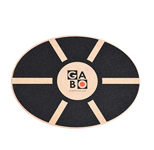 GABO Oval Board – Wooden Wobble Balance Trainer – Perfect for Standing Desk, Rehab, Yoga and Much More – Improve Your Balance, Improve Your Life