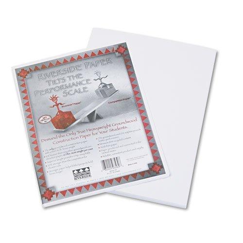Riverside 3D Construction Paper, White, 9