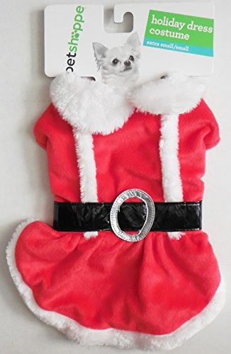 Santa Costume Walgreens (Holiday Santa Dress Costume For Extra small/Small Dog)