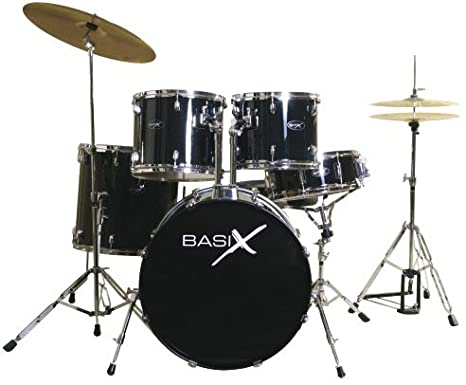 090b2e2bdea0 Basix CL105 - Black Classic Series 5-piece Drum Set  Amazon.ca  Musical  Instruments