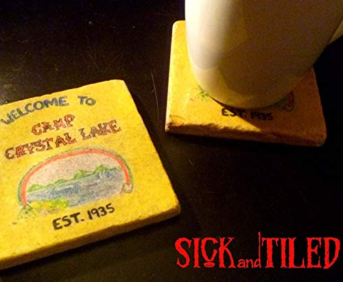 Camp Crystal Lake Horror Movie Tumbled Stone Drink