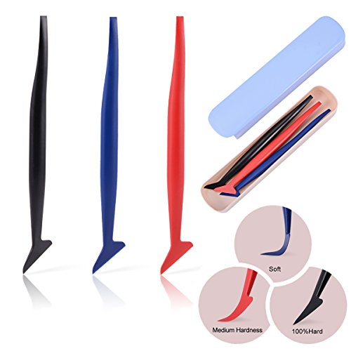 Ehdis 3 in 1 Micro Mini Squeegee Vinyl Wrap Graphic Application Tucking Molding Tool for Film into The Smallest (Vinyl Graphic Kits)