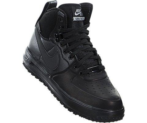 Nike Lunar Force 1 SneakerBoots (Kids) Black/Metallic Silver by Nike (Image #4)