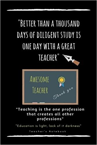 Amazon.com: Awesome Teacher Notebook Journal with Quotes: Thank