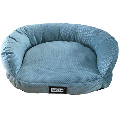 XMSG Pet Dog Bed Lounge Sofa, Cozy Cat Bed Non-Stick Hair Washable Kennel for Medium/Small Dogs and Cats (Lake Blue)