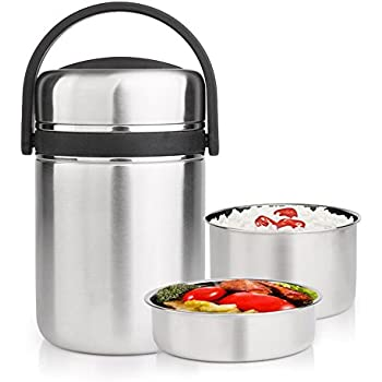 MyLifeUNIT Vacuum Insulated Lunch Box Thermal Insulating Stainless Steel Lunch Containers 2.0L (  sc 1 st  Amazon.com & Amazon.com: MyLifeUNIT Vacuum Insulated Lunch Box Thermal ... Aboutintivar.Com