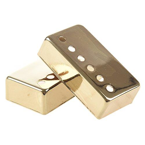 TOOGOO(R)2pcs Guitar Humbucker Pickup Cover 52mm Gold