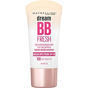 Maybelline Dream Fresh Skin Hydrating BB cream, 8-in-1 Skin Perfecting Beauty Balm with Broad Spectrum SPF 30, Sheer…