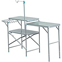 Outsunny 6' Portable Fold-Up Camp Kitchen - Silver