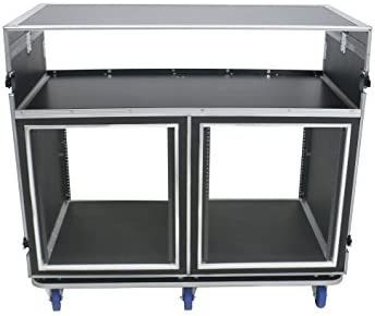 OSP Deluxe Front of House System w//Dual 12U-Racks /& Standing Lid Tables ATA-FOH-2SL