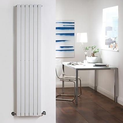 Radiador Mural Hudson Reed Sloane Blanco Vertical en Acero - 1600mm x354mm - De pared y