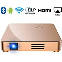 Portable Projector, SeeYing S1 DLP Mini Video Projector HD 1080p Supported WiFi Airplay with 150 Display for Home Theather Entertainment,HDMI,USB,TF,SD Card,Fire TV Stick,Phone,iPad,PS4