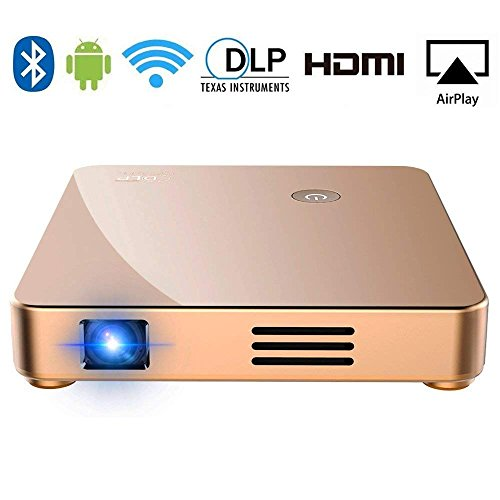 Portable Projector, SeeYing S1 DLP Mini Video Projector HD 1080p Supported WiFi Airplay with 150'' Display for Home Theather Entertainment,HDMI,USB,TF,SD Card,Fire TV Stick,Phone,iPad,PS4