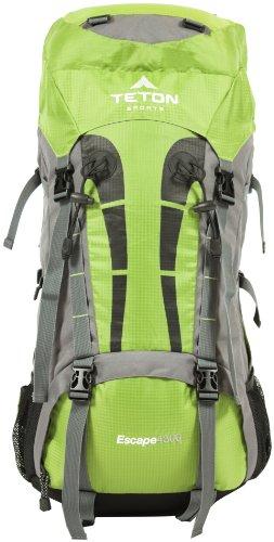 TETON Sports Escape 4300 Ultralight Internal Frame Backpack (33″x 17″x 12″, Light Green), Outdoor Stuffs