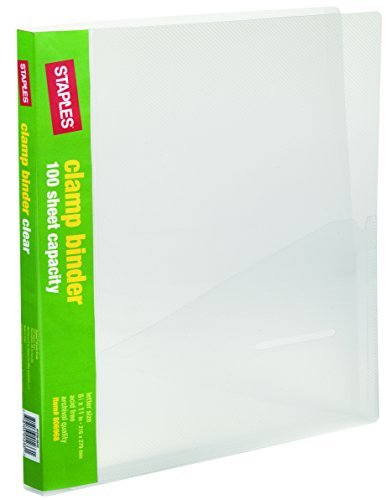 Staples; Clamp Binder, Clear