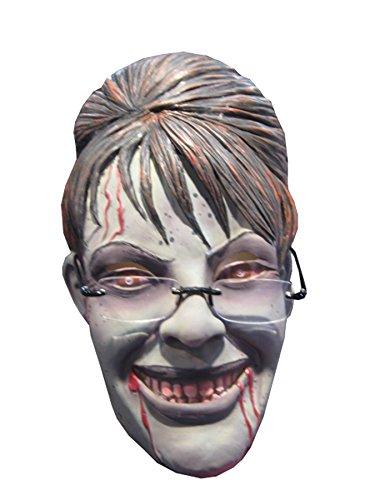 Rubie's Women's Rogue Zombie Sarah Palin 3/4 Latex Mask Halloween Costume (Palin Rogue Zombie)