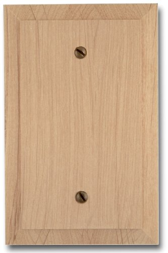 Amerelle 180B Traditional Wood Blank Wallplate, Unfinished