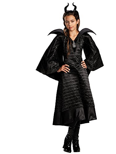 Disney Maleficent Movie Christening Black Gown Girls Deluxe Costume, Medium/7-8
