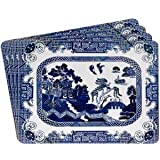 Blue Willow Pattern Placemats x 4 China Vintage