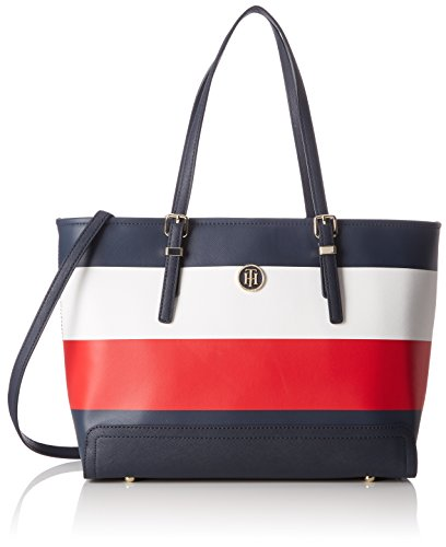 Tommy Med Corp 13 cm Hilfiger 5x42x27 Mix Noir T Corporate B x Cabas femme Tote Honey Stripe x H EAwEWIrq