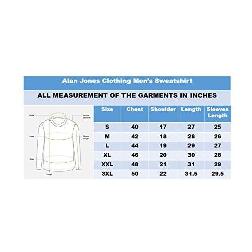 41f9wDBOCNL. SS500  - Alan Jones Clothing Men's Cotton Hooded Sweatshirt