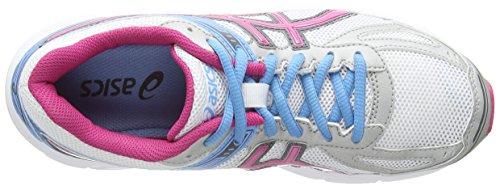 ASICS Patriot 7 - Zapatillas de deporte para mujer Blanco (White / Hot Pink / Soft Blue 120)