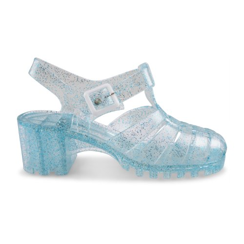Footwear Sensation - Sandalias de vestir para mujer Blanco blanco crema Blanco - Light Blue Glitter
