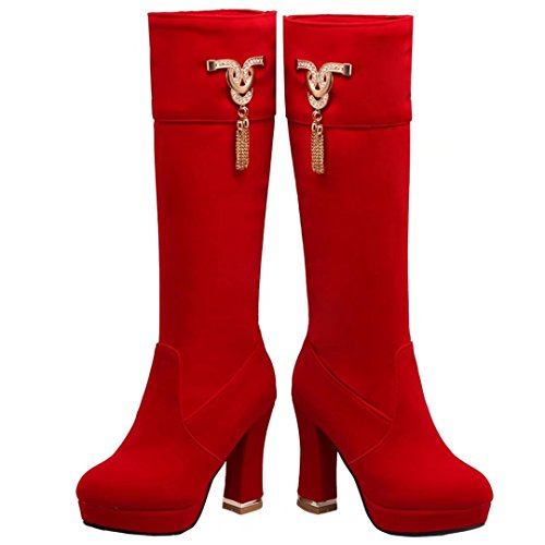 Red Women's AIYOUMEI AIYOUMEI Women's Classic Boot TqZPxRw