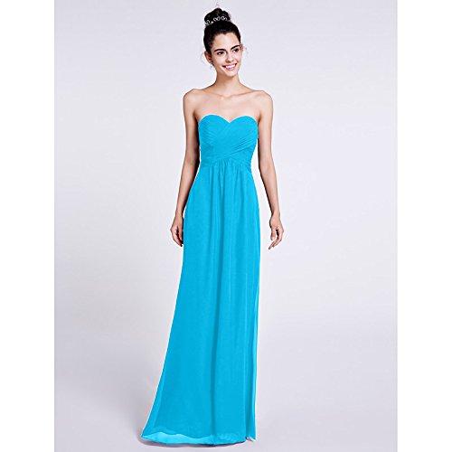 linea formale da con Blue con lacci di Una Prom prodotti Tulle di collo a V da sera lunghezza pianale e kekafu abito SG 5IORBx