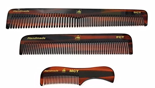 GBS Handmade Grooming Comb Combo Set - Tortoise Shell Anti S