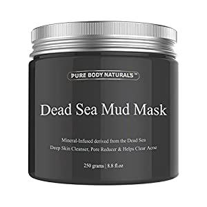 Pure Body Naturals Purifying Dead Sea Mud Mask Facial Treatment, 8.8 Ounce