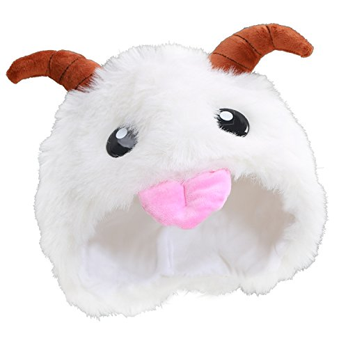 XCOSER Cute LOL Poro Hats Plush Toys Props for Haloween Costume]()