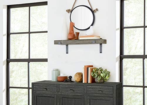 "Martin Furniture WS8B Rustic Wall Shelf 8"" Grey WS8G: Amazon.ae"