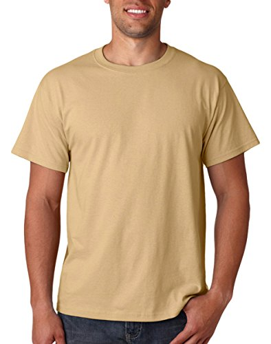Fruit Of The Loom 100  Heavy Cotton T Shirt  New Gold  L   Pack2