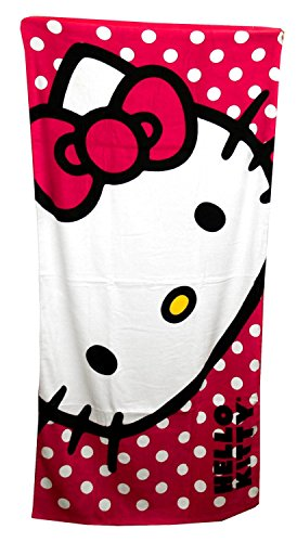 Northwest Sanrio The Company Hello Kitty Happy Kitty Beach Towel, 30 by 60""