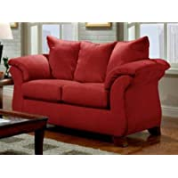 Chelsea Home Furniture Armstrong Loveseat, Sensations Red Brick