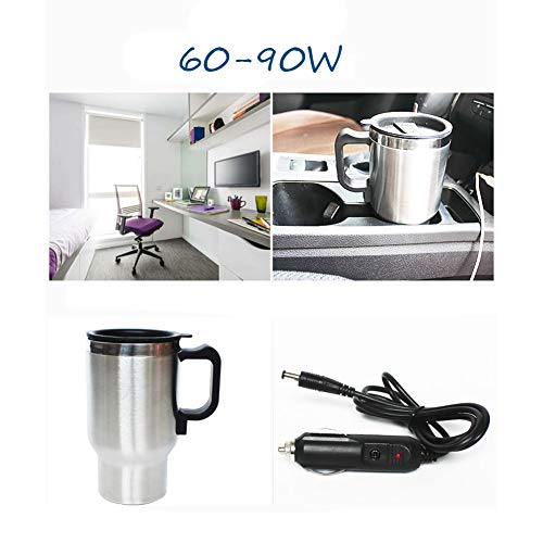 QDJIEN Car Electric Hot Water Cup Combination 12V Mini Cigarette Lighter Small Refrigerator Household Hot Milk Warmer Refrigeration Heating Kettle by QDJIEN (Image #3)