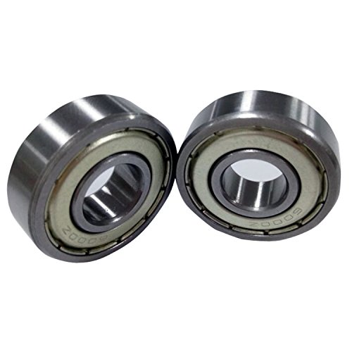Metal Shielded Bearing - Antrader Deep Groove Ball Bearings Metal Shielded 6000Z Precision Bearings 10 x 26 x 8mm Silver Tone Pack of 10