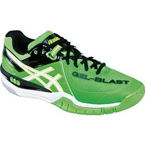 ASICS Men's Gel Blast 6 Indoor Court Shoe,Green/White/Black,13 M US (Gel Blasts)