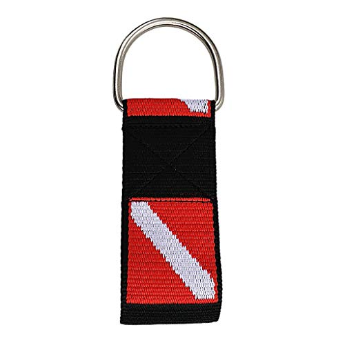 Prettyia Universal 2 inch Weight Belt Webbing Strap Loop & D Ring for Scuba Diving Diver