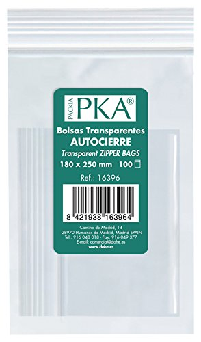 PKA 16392 - Pack de 100 bolsas de plástico con autocierre, 80 x 120 mm
