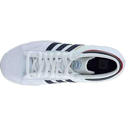 Adidas Heren Matchcourt High Rx2 Skate Schoen Schoenen Wit / Collegiaal Marine / Scarlet