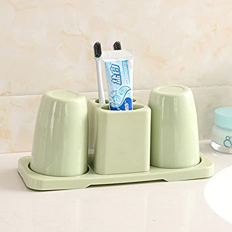 Enjuague bucal doble Cepillo de copa bowl vanity set baño bluetooth es la incorporada en el estante parejas cepillo y pasta de dientes, rack, ...