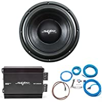 Skar Audio VD-10 D2 500W RMS Subwoofer with RP-350.1D Monoblock Sub Amplifier and 8 Gauge Amp Kit