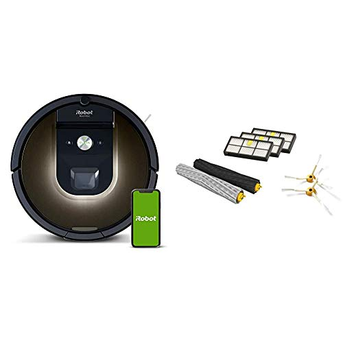 iRobot Roomba 981 Robot Vacuum-Wi-Fi Connected Mapping, Works with Alexa iRobot Authentic Replacement Parts- Roomba 800 and 900 Series Replenishment Kit