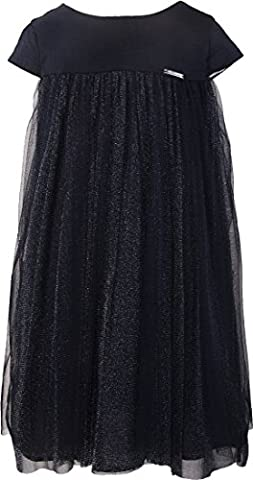 Ipuang Flower Big Girl Tulle Glitter Mesh Dress for Special Occasions 7 Navy