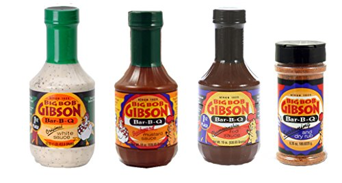 Big Bob Gibson Barbecue Variety 4 Pack (Gibsons Seasoning)